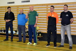 Zľava Atilla Agócs, Alexander Balog, Stanislav Villányi, Marek Antalík a Marián Jačmeník.