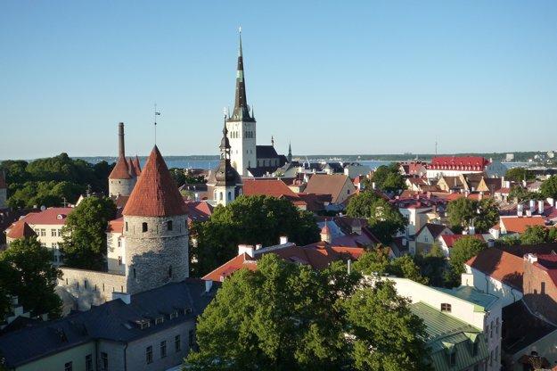 Tallinn, pohľad na centrum mesta.