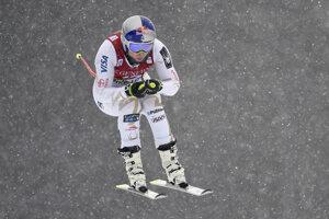 Lindsey Vonnová počas tréningu na úvodný zjazd Svetového pohára v alpskom lyžovaní žien v kanadskom stredisku Lake Louise 28. novembra 2017.
