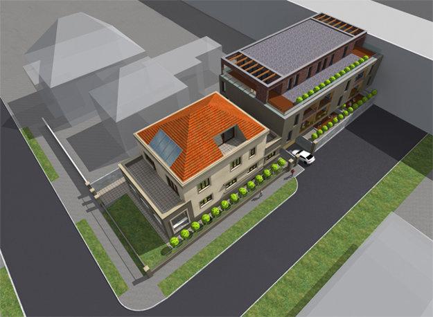 Mojtova vila po rekonštrukcii s prístavbou.