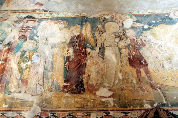Fresky kostola v Čeríne sú mimoriadne vzácne.