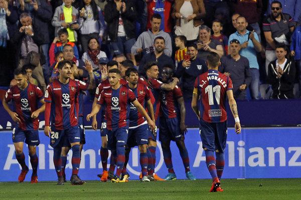 Futbalisti Levante - ilustračná fotografia.