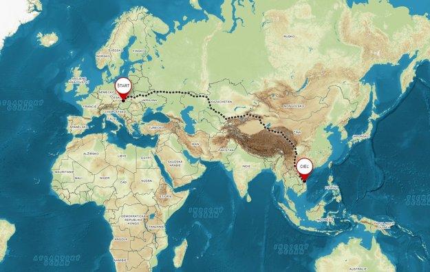 Cesta z Prievidze do Vietnamu.