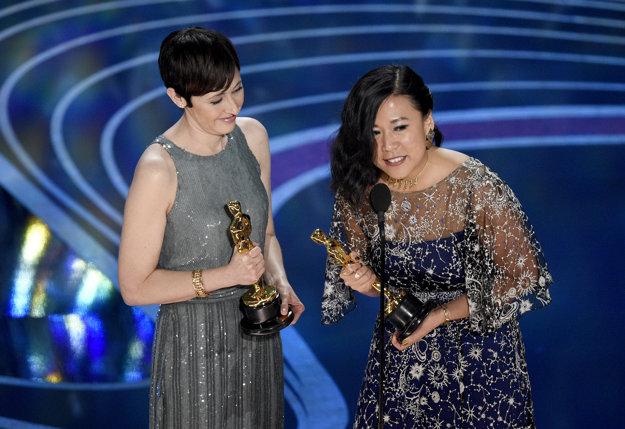 Becky Neiman-Cobb a Domee Shi dostali Oscara za najlepší krátky film Boa.