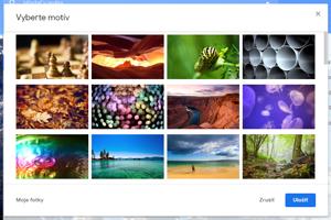 Gmail nemusí byť iba biely. Ako pozadie si môžete nastaviť z množstva fotiek, alebo si pridajte aj vlastné.