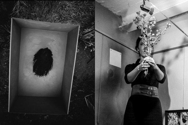 Viki Kollerová vTrafačke, vľavo snímka, ktorú musela pre Nitru vyrobiť nanovo.