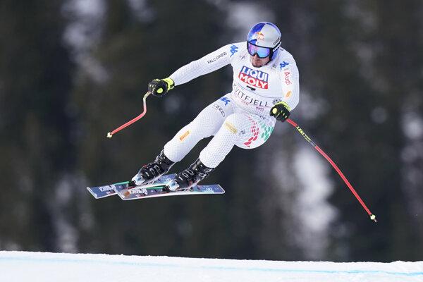 Taliansky lyžiar Dominik Paris.