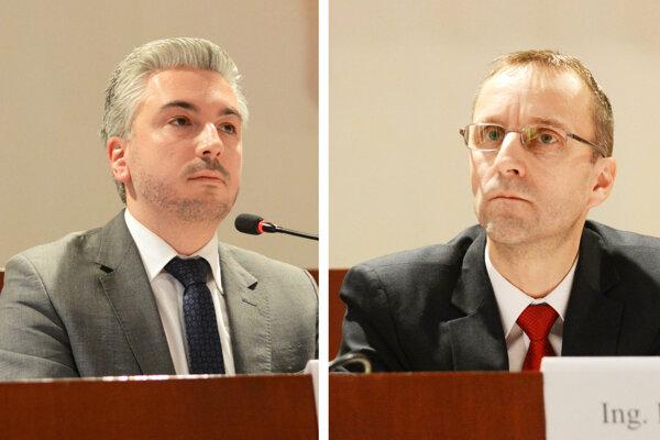 Nič si nedarujú - (zľava) župan Rastislav Trnka (nezávislý) a hlavný kontrolór KSK Ľubomír Hudák (exSmer).