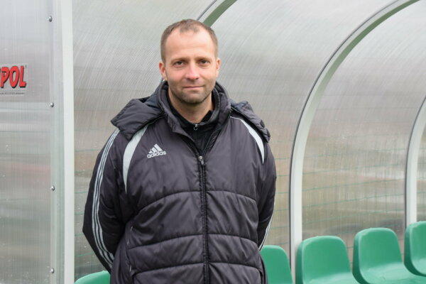 Tréner Čadce Vladimír Kuťka.