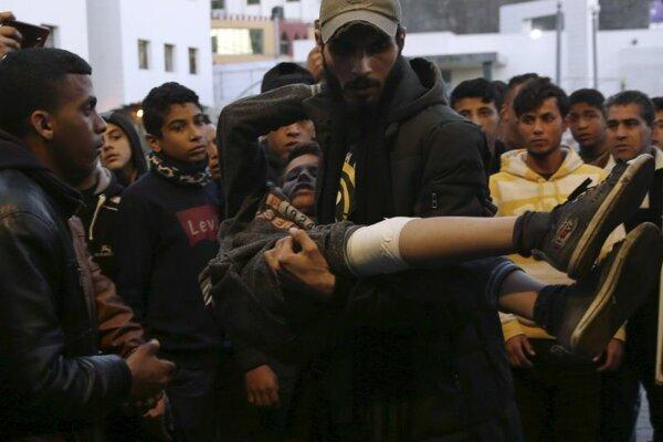 Zranený Palestínčan. Ilustračné foto