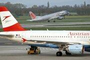 Lietadlo spoločnosti Austrian Airlines.