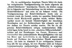 Základy všeobecnej teórie relativity publikoval v roku 1916.