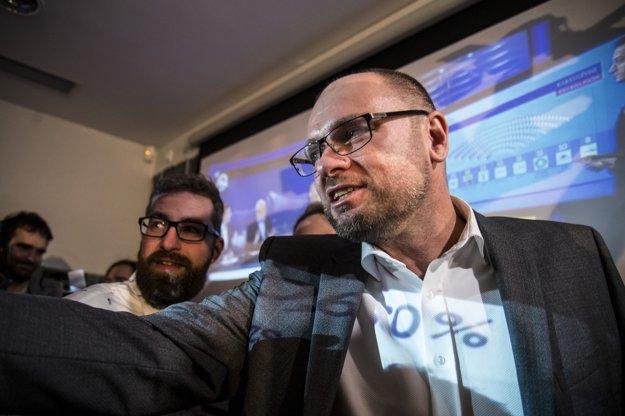 Martin Poliačik a predseda SaS Richard Sulík