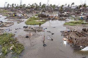 Spúšť po cyklóne Idai v Mozambiku.