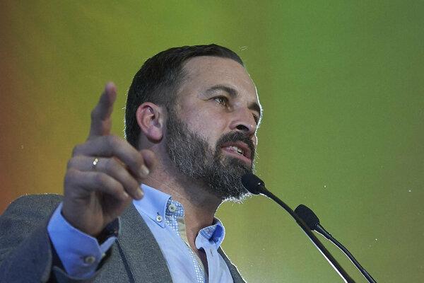 Líder krajne pravicovej španielskej strany VOX Santiago Abascal.