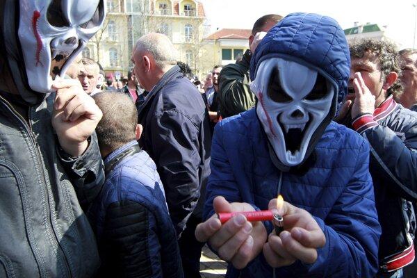 Demonštrácie v Tirane.