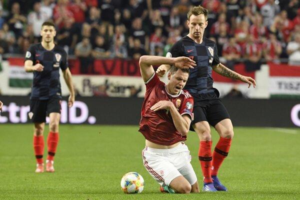 Ilustračná fotografia zo zápasu Maďarsko - Chorvátsko.