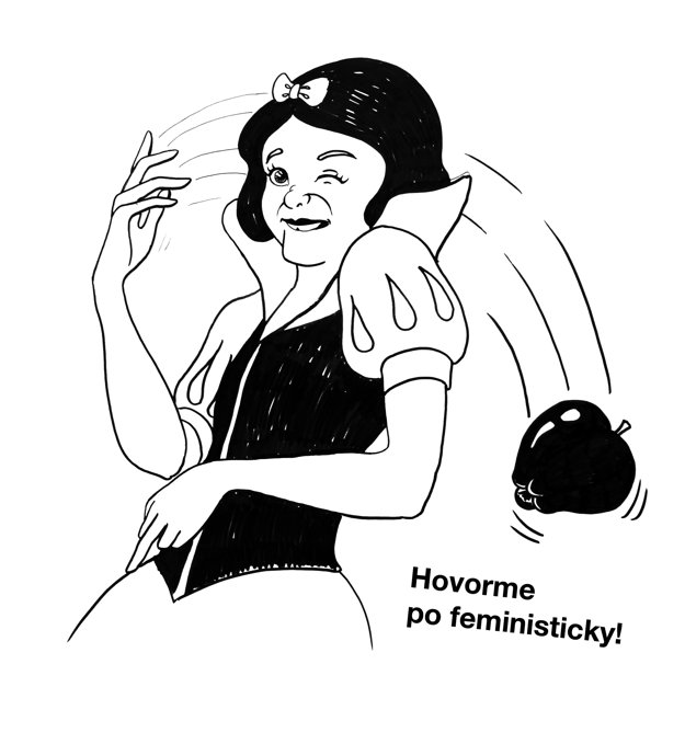 Kresba Lucie Dovičákovej k akcii Majme deň žien.