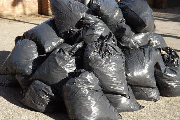 Dobrovoľníci v Bánovciach nad Bebravou najprv vyzbierali vrecia odpadu, potom išli k voľbám.