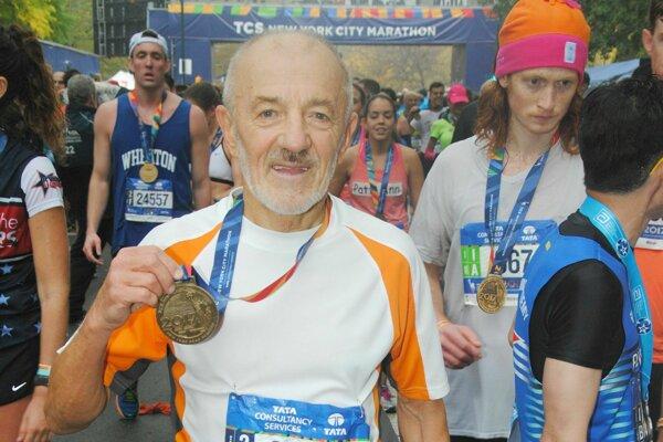 Ján Hazucha na maratóne v New Yorku
