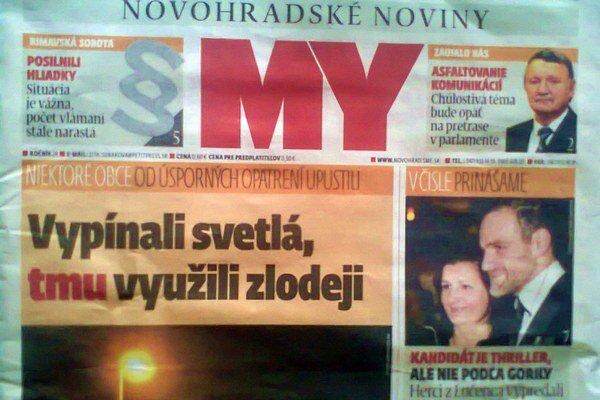 Aktuálne číslo MY Novohradských novín je už v predaji.