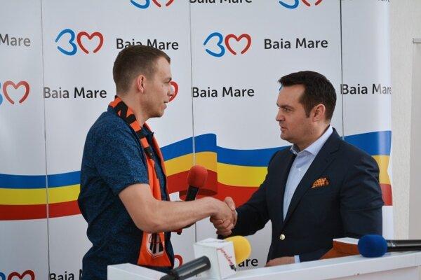 Vítanie Tomáša Čípa v Baia Mare.