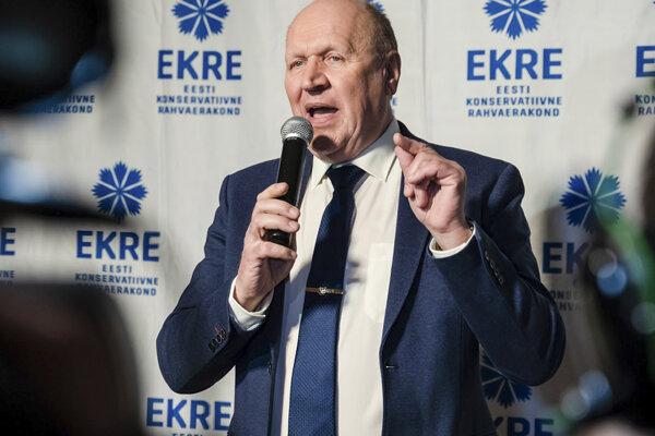 Predseda pravicovo-populistickej a euroskeptickej Estónskej konzervatívnej ľudovej strany (EKRE)Mart Helme.
