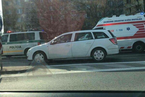 Nehoda sa  stala dnes dopoludnia.