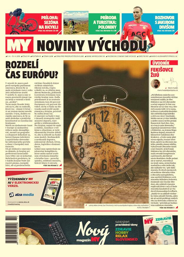 Titulná strana týždenníka MY Noviny východu č.14.
