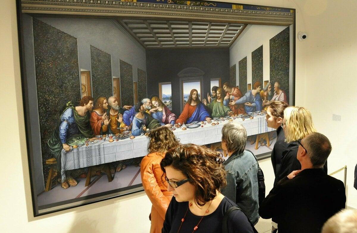 d169ff183 Oravská galéria vystavuje rekonštruovaný obraz Poslednej večere Stana Lajdu.