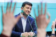 Volodymyr Zelenskyj po zverejnení exit pollov.