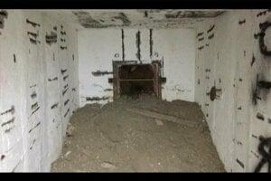 Vnútorné priestor bunkra.