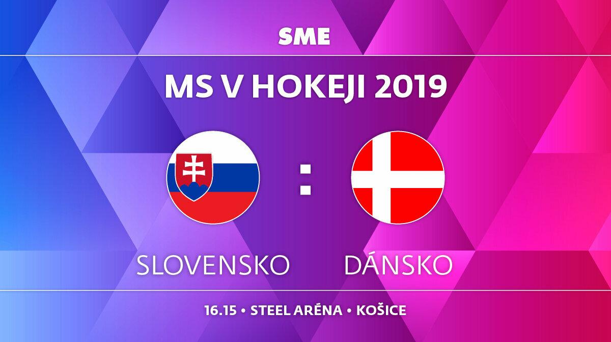 aaf8aa1310668 Slovensko : Dánsko - MS hokej 2019 - ONLINE - LIVE - Šport SME
