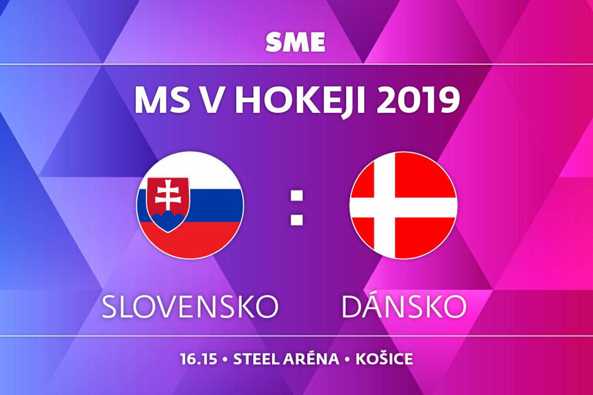 65d1e1d1f702b Slovensko : Dánsko - MS hokej 2019 - ONLINE - LIVE - Šport SME