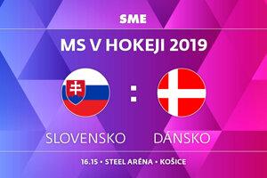 Slovensko - Dánsko, zápas MS v hokeji 2019, skupina A. Sledujte online prenos na SME.sk.