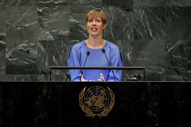 Estónska prezidentka Kersti Kaljulaidová.