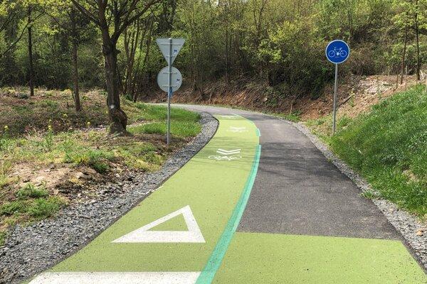 Cyklochodník, ktorý je súčasťou projektu Cykloželeznička Prešov - Zlatá baňa.