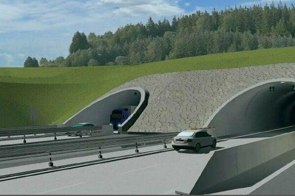 Takto má vyzerať tunel Okruhliak.
