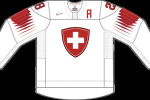 Dres Švajčiarska určený pre zápasy, v ktorých je napísané ako domáci tím.