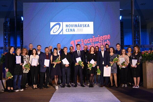 Ocenení v Novinárskej cene 2018.
