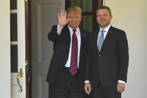 Americký prezident Donald Trump a slovenský premiér Peter Pellegrini