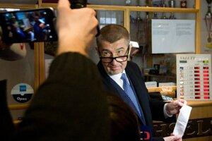 Andrej Babiš ako minister financií Českej republiky pri spustení evidencie tržieb v roku 2016.