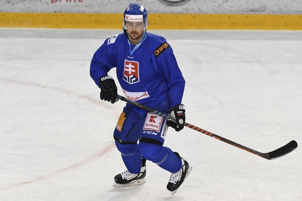 Na snímke slovenský hokejový útočník Tomáš Tatar.