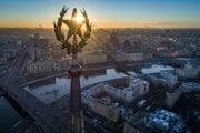 Pohľad na Moskvu.