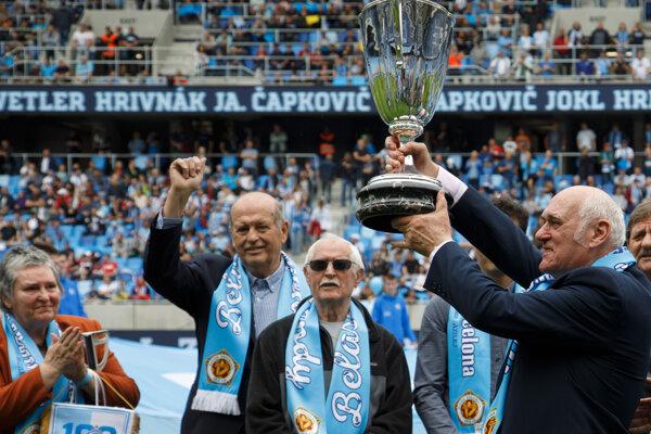 Legendy ŠK Slovan Bratislava pred zápasom proti MŠK Žilina.