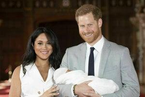 Meghan Markle, princ Harry a ich prvorodený syn.
