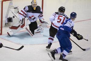 Gól Marka Daňa v zápase Slovensko - Kanada na MS v hokeji 2019.
