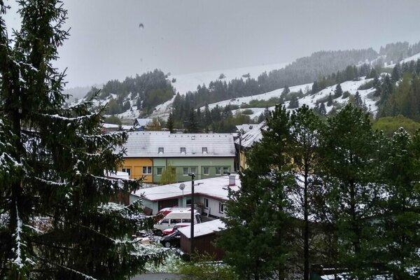 Pohľad z okna v Habovke.