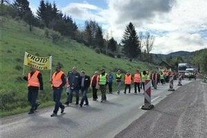 Na dnešnom proteste v Turčeku.