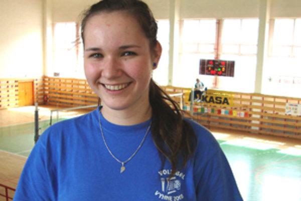 Talentovaná volejbalistka Karin Radová.